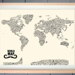 Mustache World Map
