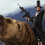 Abe Lincoln Grizzly Print