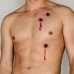 Bullet Wound Fake Tattoos