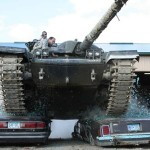 Tank Double Car Crush