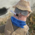 Hunter S Thompson Finger Puppet