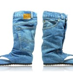 Denim Sandal Boots